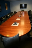 LARGE CONFERENCE ROOM TABLE AND CREDENZA