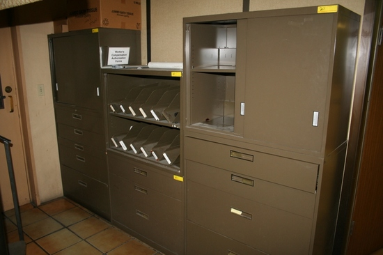 VARIOUS SIZE METAL FILE CABINETS