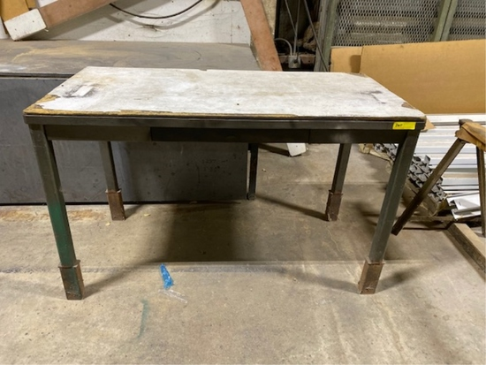 METAL WORK TABLES 10.5'L AND  5'L