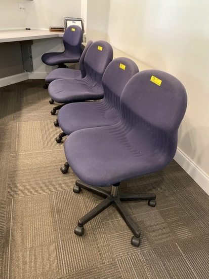 PURPLE ROLLING CHAIRS