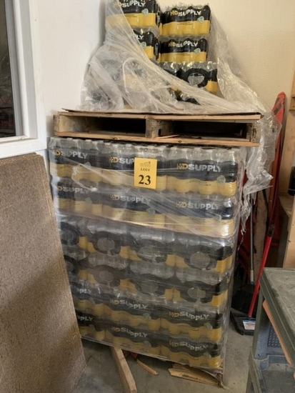 PALLET OF CASES OF WATER