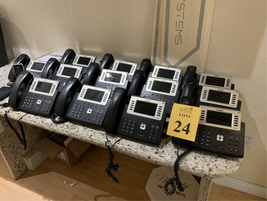 LOT CONSISTING OF YEALINK PHONE SYSTEM