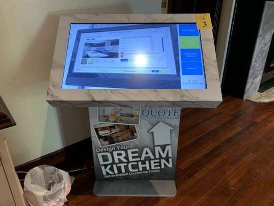 """42"""" LCD TOUCH SCREEN SALES KIOSK"""