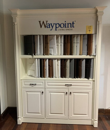 DISPLAY CABINET WITH SAMPLES