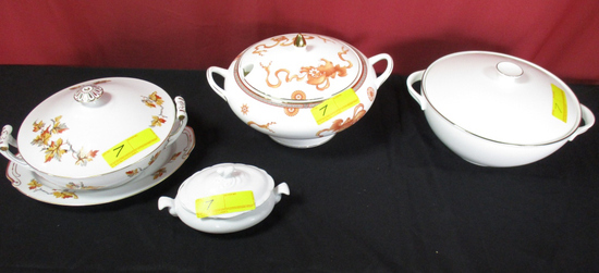LOT CONSISTING OF COVERED DINNER WARE