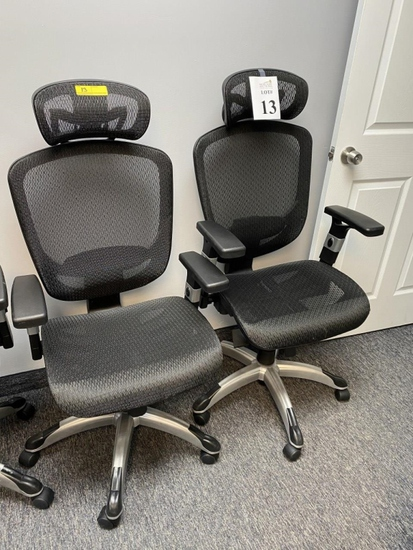 ROLLING ADJUSTABLE HYKEN MESH BACK CHAIRS
