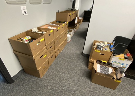 SUBSTANTIALLY LARGE LOT ASSORTED OFFICE SUPPLIES:
