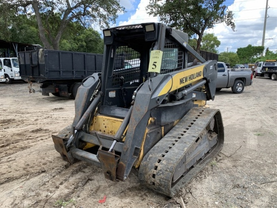 NEW HOLLAND C190 SKID STEER WITH BOOM ATTACHMENT