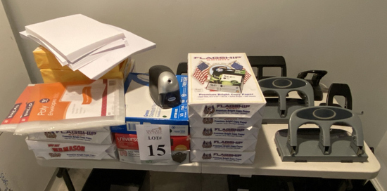 LOT CONSISTING OF ASSORTED OFFICE SUPPLIES