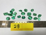 LOT CONSISTING OF LAB CREATED EMERALDS