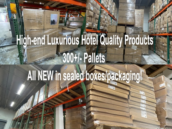 High-end luxurious hotel quality products