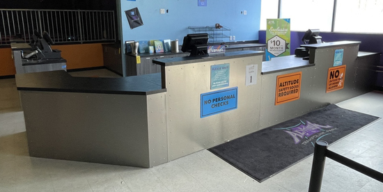 FRONT DESK COUNTERS AND CABINETS