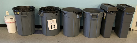 ASSORTED GARBAGE CANS