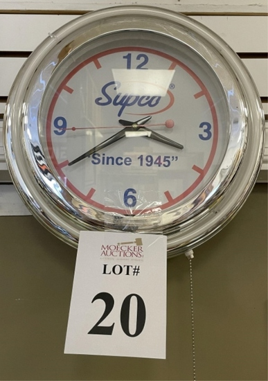 SUPCO NEON CLOCK, NO CORD