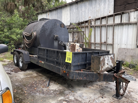 2000 UTILITY TRAILER WITH 1,000 GALLON AGITATED