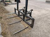 4 prong  payloader bale spears w/Volvo mounts