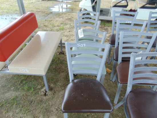 (4) RESTAURANT TABLE CHAIRS