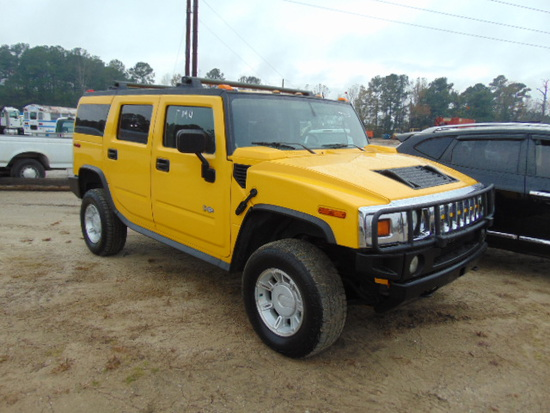 2003 HUMMER H2 VIN:5GRGN23U43H107079 4 door SUV, 3wd, A/t, power doors & wi