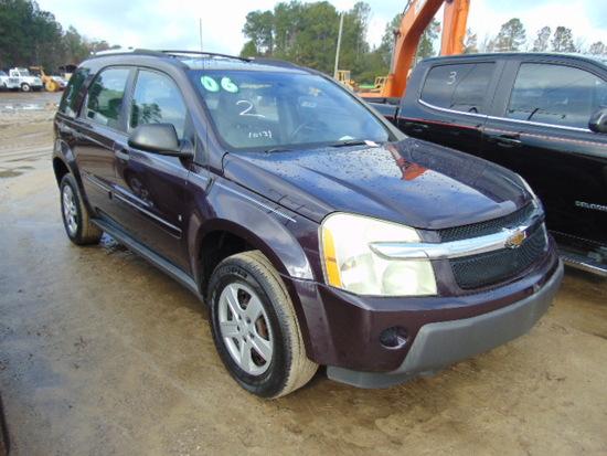 2006 CHEVROLET EQUINOX VIN:2CNDL13F366026148 SUV, A/T, cloth interior, powe
