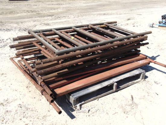 pallet of scaffolding