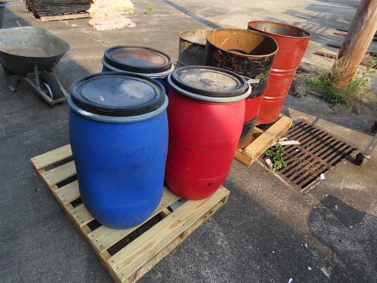 3 Burning Barrels
