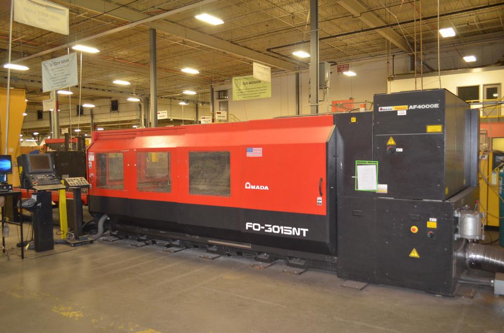 Amada 4,000-Watt Model FO-3015NT Dual Table CNC Laser Cutter, S/N: 37511148