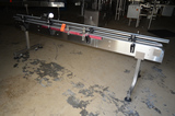 4.5 in x 10 ft SS Frame Plastic Delrin Conveyor (Sold subject to bulk bid Lot: 100)