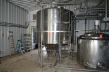 2000 Gallon Jacketed SS Tank with Access Ladder, Sweep Scrape Agitation, Dimple Jacketed Bottom, 75
