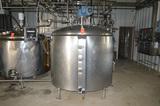 800 Gallon Jacketed SS Tank with Access Ladder, Bottom Sweep Agitation, Baffle, Spray Ball, (Centrif