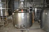 600 Gallon Jacketed SS Tank with Bottom Sweep Agitation, Spray Balls, Baffles, Anderson Chart Record