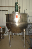 300 Gallon Kettle, Jacketed with Lightnin Mixer