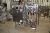 Cold Milk and Fruit Metering Skid with SPX Plate Heat Exchanger, SPX Model 015-U2 Positive Displacem