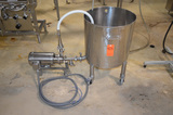 20 Gallon (Approx) S/S Single Wall Tank with S/S Wash Down Pump