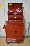 Tool Chest and Tool Box on Casters with Contents