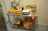 48 in  x 24 in S/S Table with Contents (InIncubation Room Storage)