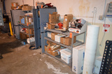 Lot - Assorted Maintenance Tools, Hardware, Parts Etc. with Assorted Cabinets and Shelf Units