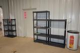 Lot - Poly Shelf  Units and Yogurt Drink Cooler