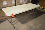 72 in x 30 in Poly Folding Table