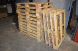 Lot - 40 in x 48 in Pallets in Dry Storage Room