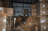 Large Qty. of Packaging Inventory in Dry Storage Room by Rear Dock