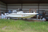 16.5 ft. Boat, with Trailer; Yamaha 90-HP Motor (Sold Without Title)