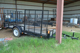 6 ft x 12 ft Wood Floor Single Axle Trailer; Drop Down Rear and Side Ramps