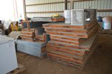 Lot - Insulated Cooler Panels with Heat Craft Evaporator