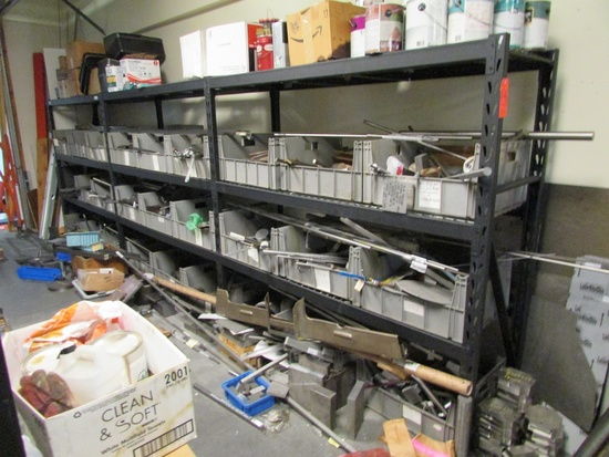 Lot - Contents of Material Storage Cage, to Include: (7) Sections of Whalen