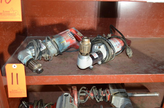Lot - (2) Milwaukee Right Angle Electric Drills