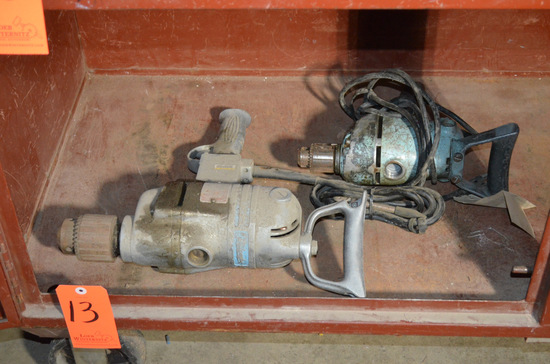 Lot - (2) Assorted Heavy Duty Electric Drills