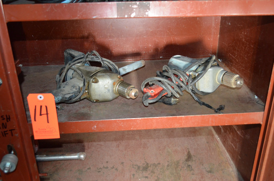 Lot - (2) Heavy Duty Electric Drills; (1) Milwaukee and (1) Black and Decke