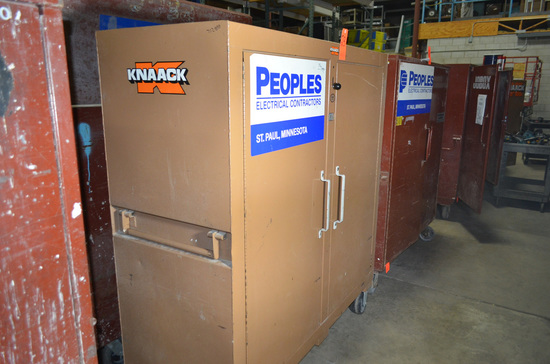 Knaack Double Door Gang Box 60 in. x 24 in. x 57 in. High with Assorted Inv