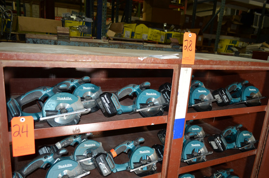 Lot - (6) Makita 5-3/8 in. Cordless Metal Cutting Circular Saws; (5) Model