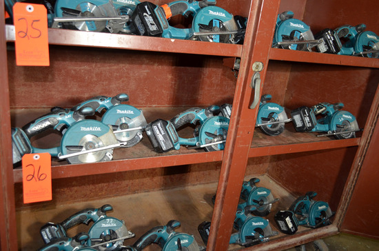 Lot - (6) Makita 5-3/8 in. Cordless Metal Cutting Circular Saws; (4) Model